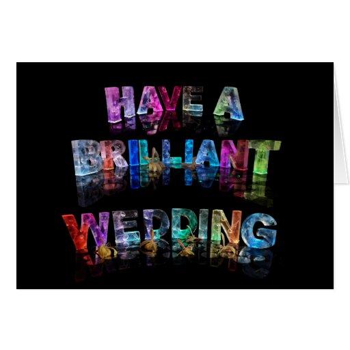 Tenga un boda brillante felicitacion