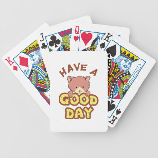 Tenga un buen día baraja cartas de poker