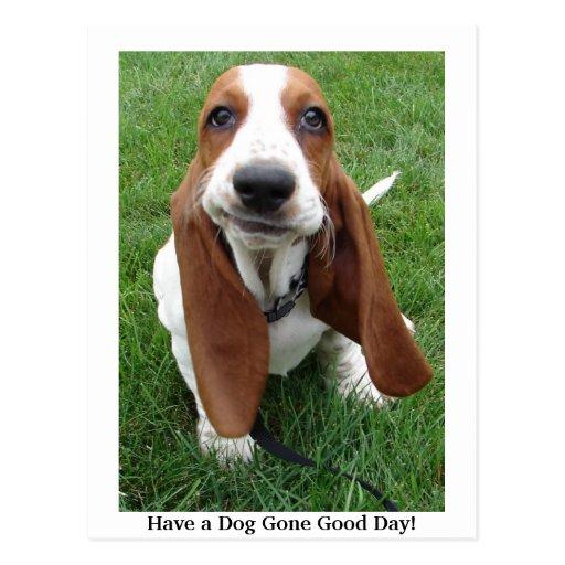 ¡Tenga un buen día ido perro! Postal