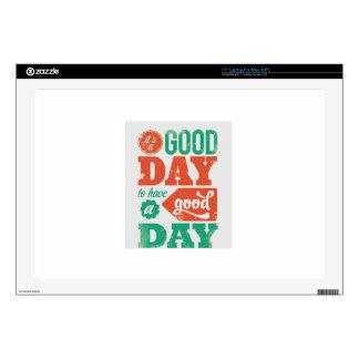 TENGA un BUEN DÍA - REGALO gráfico multicolor del Calcomanía Para 43,2cm Portátil
