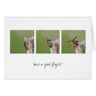 Tenga un buen vuelo tarjeta de felicitación