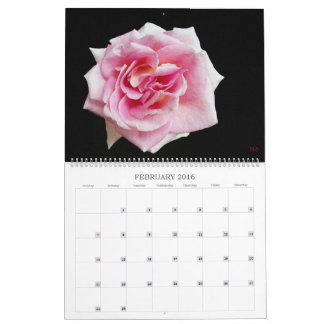 Tenga un calendario de pared colorido del año