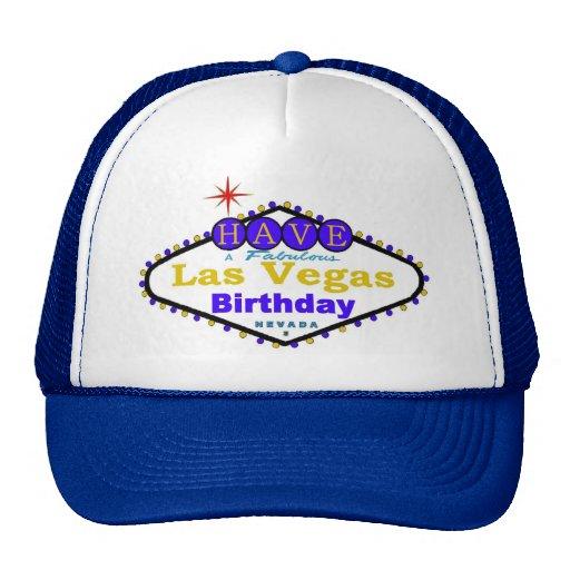 ¡Tenga un casquillo fabuloso del cumpleaños de Las Gorros Bordados