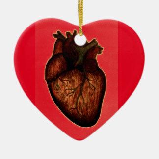 Tenga un corazón adorno de cerámica en forma de corazón