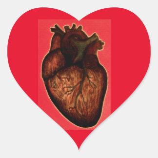 Tenga un corazón pegatina en forma de corazón