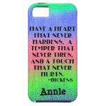Tenga un corazón que nunca endurezca - cita de Dic iPhone 5 Case-Mate Protector