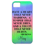Tenga un corazón que nunca endurezca - cita de Dic iPhone 5 Case-Mate Cobertura