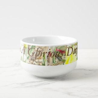 Tenga un cuenco de cereal glorioso de la mañana cuenco para sopa