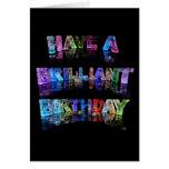 Tenga un cumpleaños brillante felicitaciones