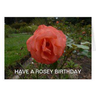 Tenga un cumpleaños de Rosey Tarjeton
