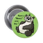 Tenga un día agradable beary pin redondo 5 cm