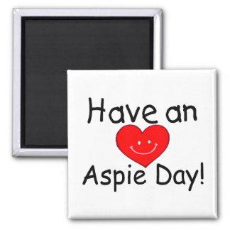 Tenga un día de Aspie (Hrt) Imán Cuadrado