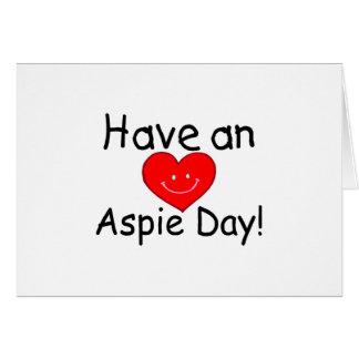 Tenga un día de Aspie (Hrt sonriente) Tarjeta De Felicitación