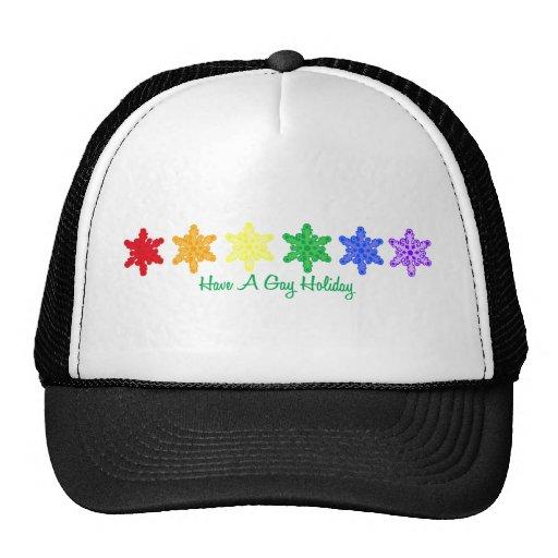 Tenga un día de fiesta gay (los copos de nieve del gorra