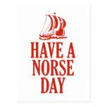 Tenga un día de los nórdises postal