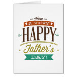 Tenga un día de padre muy feliz tarjeton
