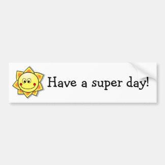 ¡Tenga un día estupendo! Pegatina Para Auto