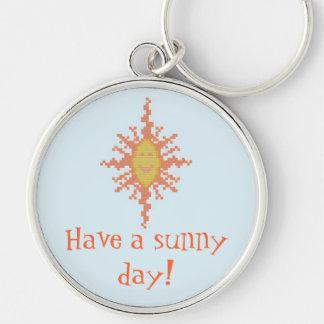 ¡Tenga un día soleado! Llavero