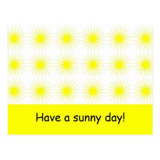 Tenga un día soleado - postal de las motivaciones