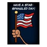 Tenga un día Spangled estrella Postales