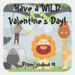 Tenga un el día de San Valentín SALVAJE Calcomanía Cuadradas Personalizadas