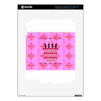 Tenga un feliz cumpleaños precioso pegatinas skins para iPad 3