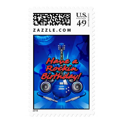 Tenga un franqueo del cumpleaños 2 de Rockin