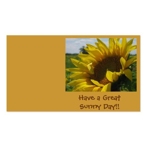 ¡Tenga un gran día soleado!! Tarjeta De Visita