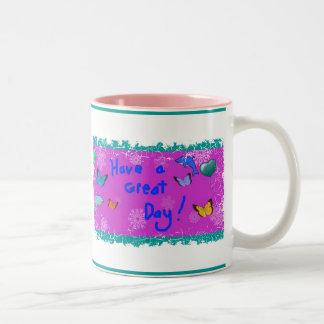 ¡Tenga un gran día! Taza De Café De Dos Colores