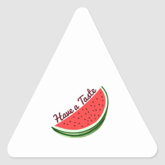 Tenga un gusto pegatinas triangulo personalizadas