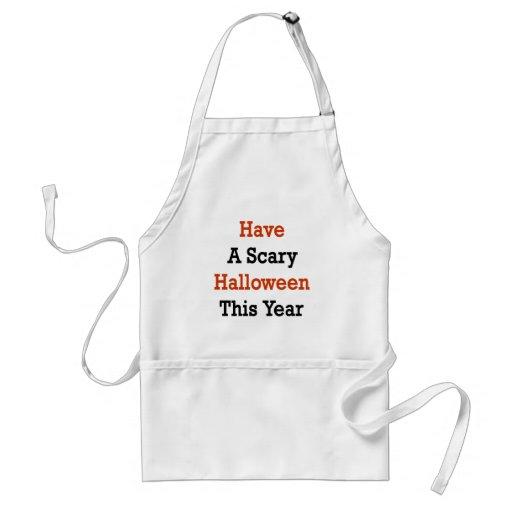 Tenga un Halloween asustadizo este año Delantal