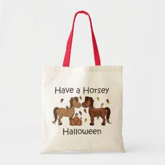 Tenga un Halloween de caballo Bolsas De Mano