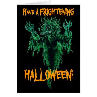 ¡Tenga un Halloween espantoso! Felicitación