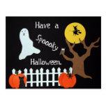 Tenga un Halloween fantasmagórico Postal