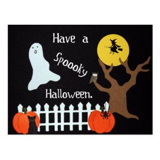 Tenga un Halloween fantasmagórico Postales