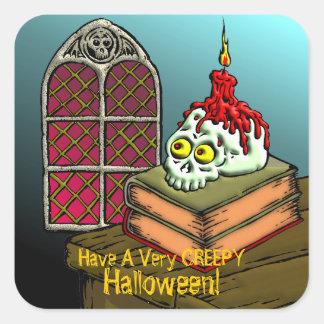 Tenga un Halloween muy espeluznante Pegatina Cuadrada