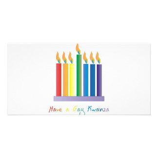 Tenga un kwanza gay tarjeta con foto personalizada