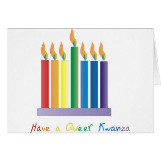 Tenga un kwanza raro tarjeta de felicitación
