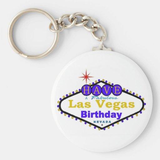 Tenga un llavero fabuloso del cumpleaños de Las Ve