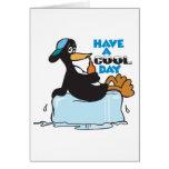 tenga un pingüino fresco del día felicitaciones
