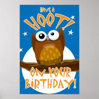 ¡Tenga un PITIDO! En su cumpleaños Posters