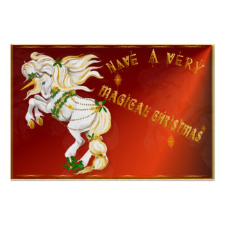 Tenga un poster muy mágico del navidad