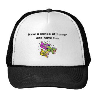 Tenga un sentido del humor y diviértase gorros