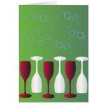 ¡Tenga un vidrio de vino! Felicitaciones