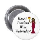 ¡Tenga un vino fabuloso miércoles! Diva del vino Pin