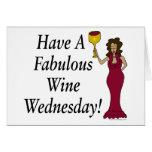 ¡Tenga un vino fabuloso miércoles! Diva del vino Tarjetas