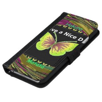 Tenga un walletcase de la mariposa de Hakuna Funda Cartera Para iPhone 6