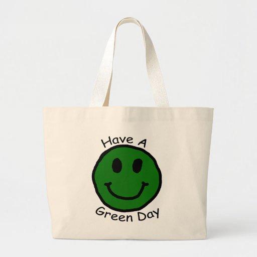 Tenga una cara sonriente retra de Green Day Bolsa
