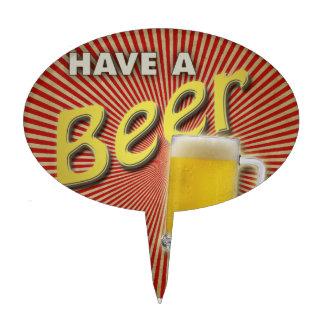 ¡Tenga una cerveza Figura Para Tarta