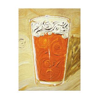¡Tenga una cerveza! Lona envuelta pintura de acríl Lienzo Envuelto Para Galerias